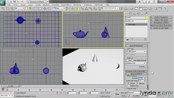 Controlling contrast and highlights: 3ds Max 2013 Essential Training