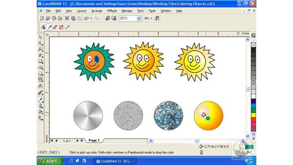 eyedropper tool: Getting Started with CorelDRAW 11