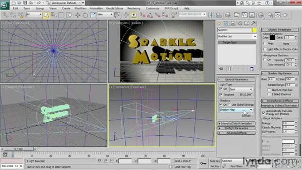 Choosing a shadow type: 3ds Max 2013 Essential Training