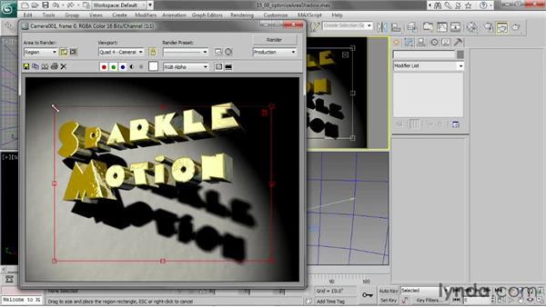 Optimizing area shadows: 3ds Max 2013 Essential Training
