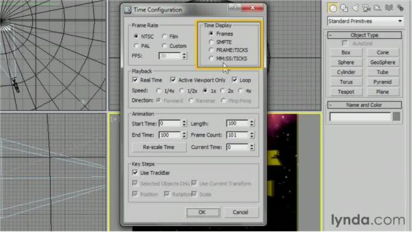 Setting up the time configuration: 3ds Max 2013 Essential Training