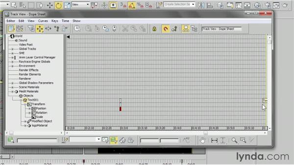 Editing keyframes in the Dope Sheet: 3ds Max 2013 Essential Training