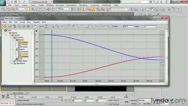 Editing function curves in the Curve Editor