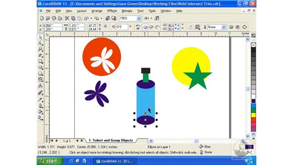 weld, trim, intersect: Getting Started with CorelDRAW 11
