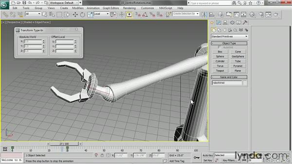 Controlling rotations: 3ds Max 2013 Essential Training