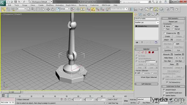 Linking objects: 3ds Max 2013 Essential Training