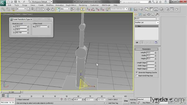 Solving problems with scale: 3ds Max 2013 Essential Training
