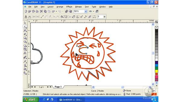 tracing a scan: Getting Started with CorelDRAW 11