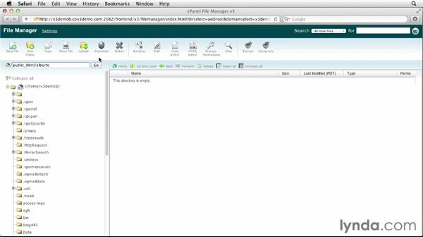 Transferring files to and from your web host: Drupal 7 Advanced Training