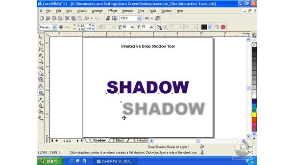 shadows: Getting Started with CorelDRAW 11