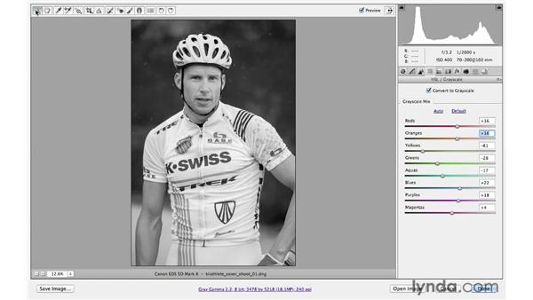 Converting to black and white: Photoshop CS6 for Photographers: Camera Raw 7