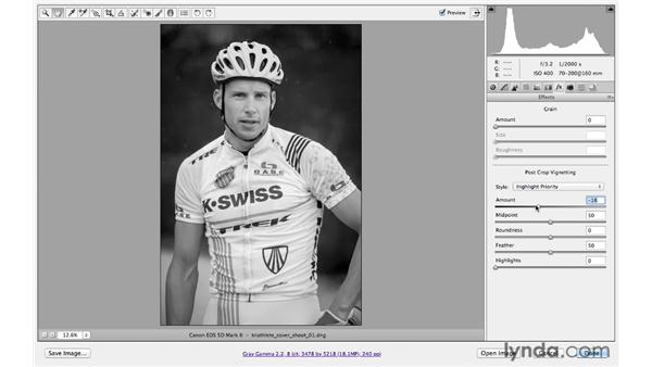 Adding a vignette: Photoshop CS6 for Photographers: Camera Raw 7