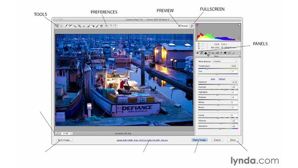 Navigating the interface and the toolbar: Photoshop CS6 for Photographers: Camera Raw 7