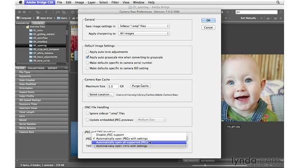Opening JPEGs and TIFFs in Bridge: Photoshop CS6 for Photographers: Camera Raw 7
