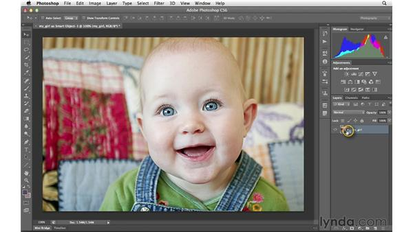 Opening an image as a Smart Object: Photoshop CS6 for Photographers: Camera Raw 7
