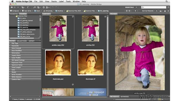 Creating a duplicate file: Photoshop CS6 for Photographers: Camera Raw 7