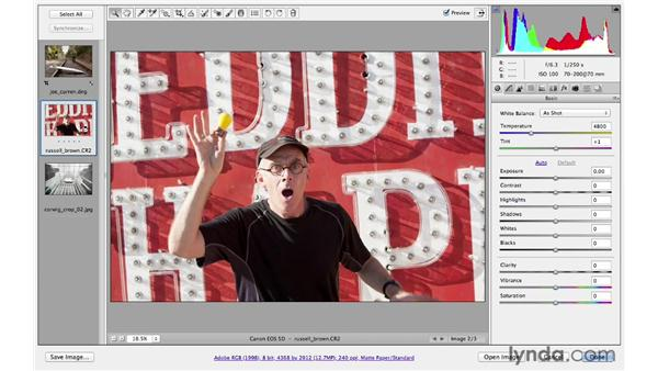 Straightening and cropping: Photoshop CS6 for Photographers: Camera Raw 7