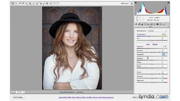 Correcting overexposure: Photoshop CS6 for Photographers: Camera Raw 7