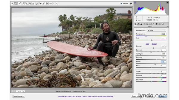 Correcting underexposure: Photoshop CS6 for Photographers: Camera Raw 7