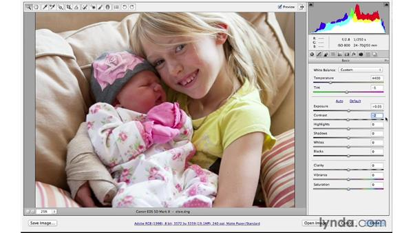 A speed tip for making basic adjustments: Photoshop CS6 for Photographers: Camera Raw 7
