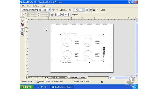 prepress preparation: Getting Started with CorelDRAW 11