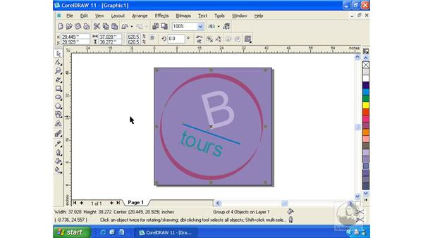embossed effects: Getting Started with CorelDRAW 11