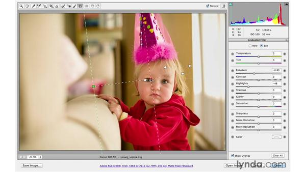 Reducing exposure with the Graduated Filter tool: Photoshop CS6 for Photographers: Camera Raw 7