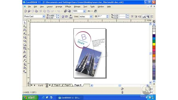 multi-page document: Getting Started with CorelDRAW 11