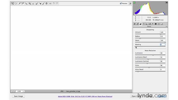 Applying input sharpening: Photoshop CS6 for Photographers: Camera Raw 7