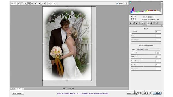Cropping and brightening edges: Photoshop CS6 for Photographers: Camera Raw 7