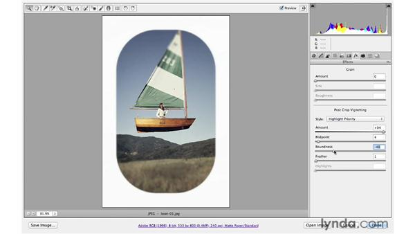 Creating a defined edge: Photoshop CS6 for Photographers: Camera Raw 7