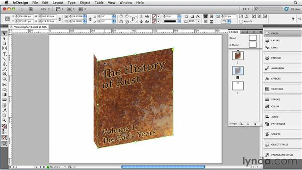 039 Shearing to Create 3D Effects, Part 1: InDesign FX