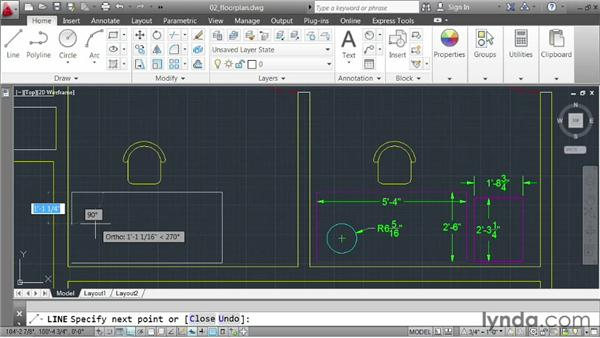 Drawing in architectural units: AutoCAD 2013 Essentials: 02 Drawing Fundamentals