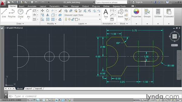Demo: creating a small part: AutoCAD 2013 Essentials: 02 Drawing Fundamentals