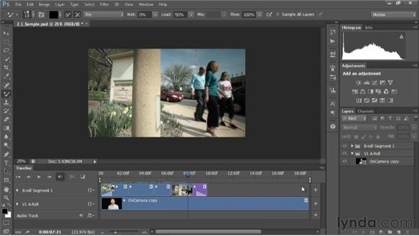 An overview of the Timeline panel: Editing Video in Photoshop CS6