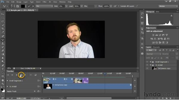 Controlling playback in the timeline: Editing Video in Photoshop CS6