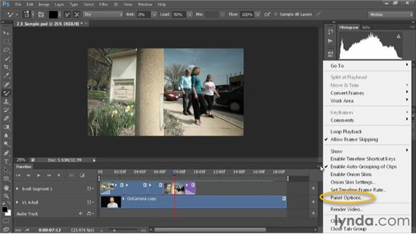 Viewing options in the timeline: Editing Video in Photoshop CS6