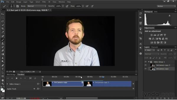 Building the A-roll: Editing Video in Photoshop CS6