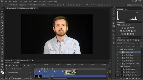 Changing the playback speed: Editing Video in Photoshop CS6