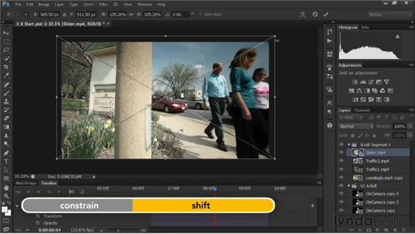Adding transitions: Editing Video in Photoshop CS6