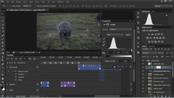 Fixing underexposed footage: Editing Video in Photoshop CS6
