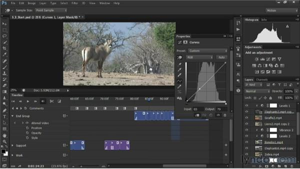 Adjusting contrast: Editing Video in Photoshop CS6