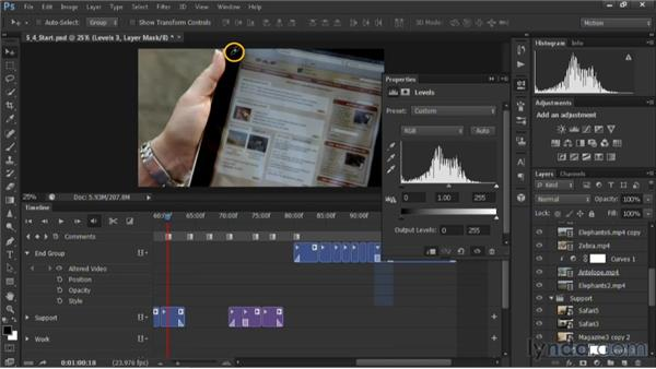 Color balancing a video shot: Editing Video in Photoshop CS6