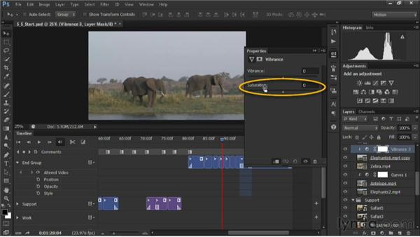 Adding vibrance to a video clip: Editing Video in Photoshop CS6