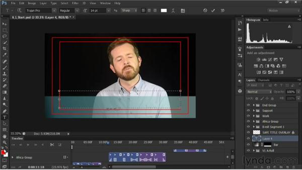 Adding a lower-third graphic: Editing Video in Photoshop CS6