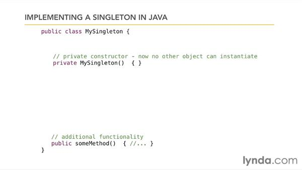 Example: the singleton pattern: Foundations of Programming: Object-Oriented Design