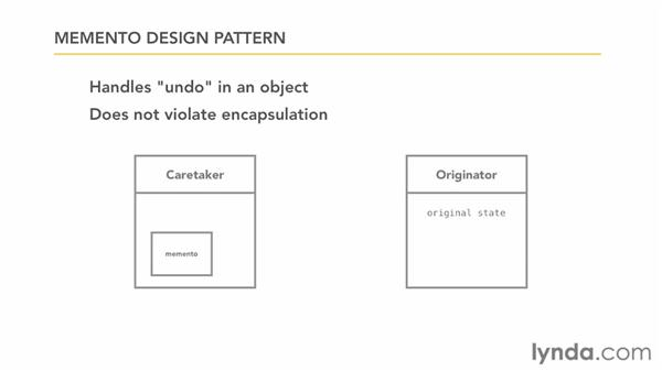 Example: the memento pattern: Foundations of Programming: Object-Oriented Design