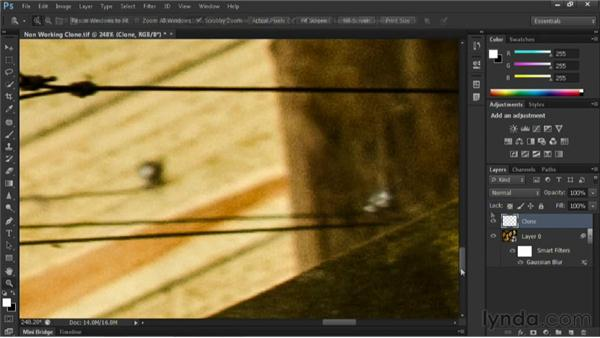 Cloning to an empty layer: Nondestructive Exposure and Color Correction with Photoshop
