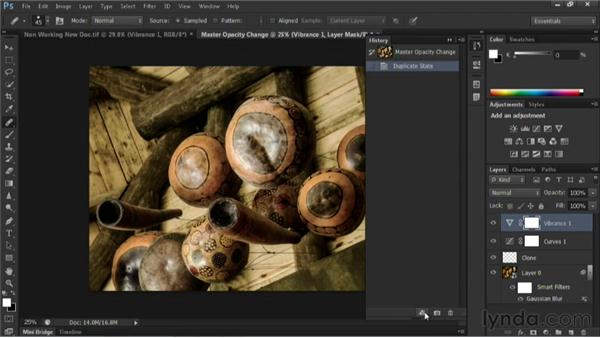 Creating a new document from the current state: Nondestructive Exposure and Color Correction with Photoshop