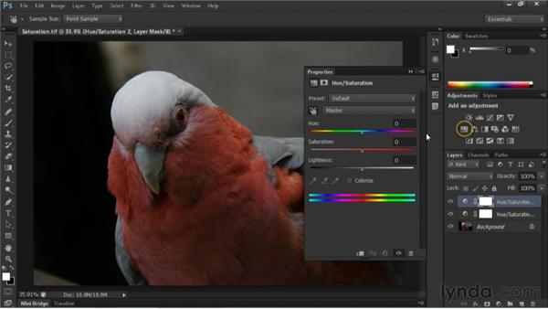 Adjusting hue and saturation: Nondestructive Exposure and Color Correction with Photoshop